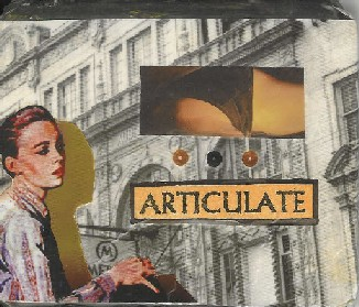 Scopophilia I, collage, tin aol cartridge, 2002
