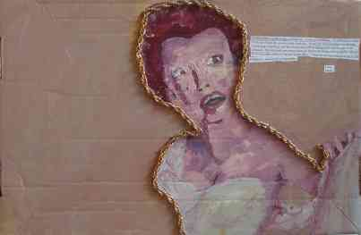 Gold Lady, oil, mixed media, 2008