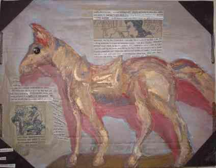 horse, oils, mixed media, 2008