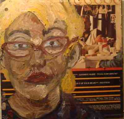 in the dressing room, oil, record cover, 2010