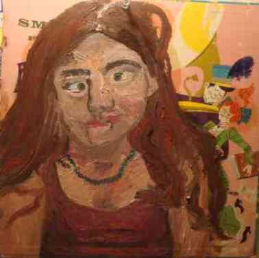 Katie, oil, record cover, 2009