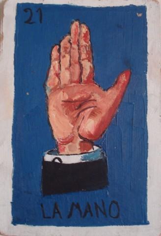 la mano, oil, 1997