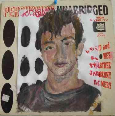 percussion unabridged, oils, record cover, 2008