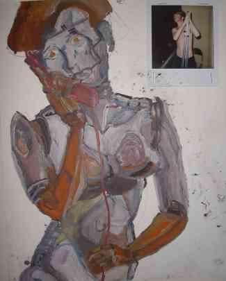robot, for alex, oils, 2008
