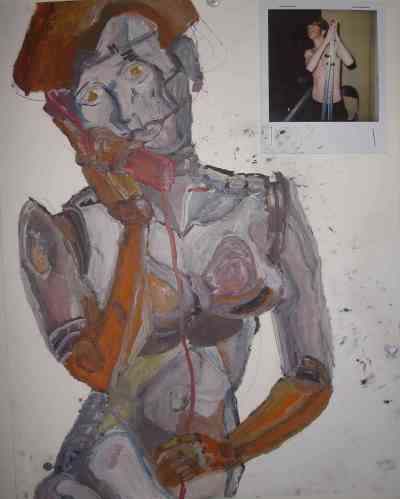 robot, for alex, oils, 2008