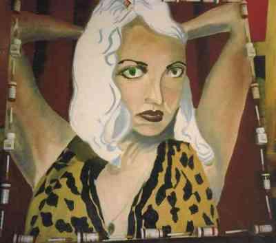 Sasha, oils, pill bottles, cigarette, 1995