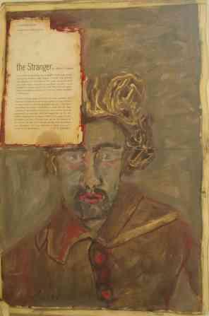 the stranger, oil, mixed media, 2008