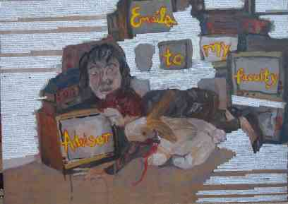 emails to my mentor, oils, 2008