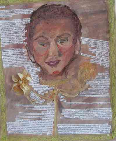 yellow flowers, oil, mixed media, 2008